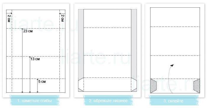 схема - как сделать конверт
