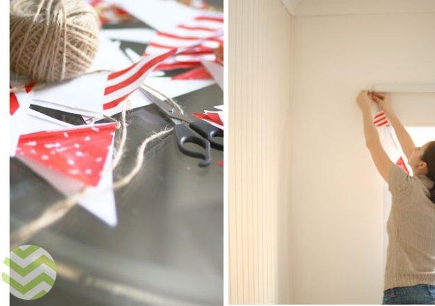 украшаем флажки украшение дома к новому году своими руками